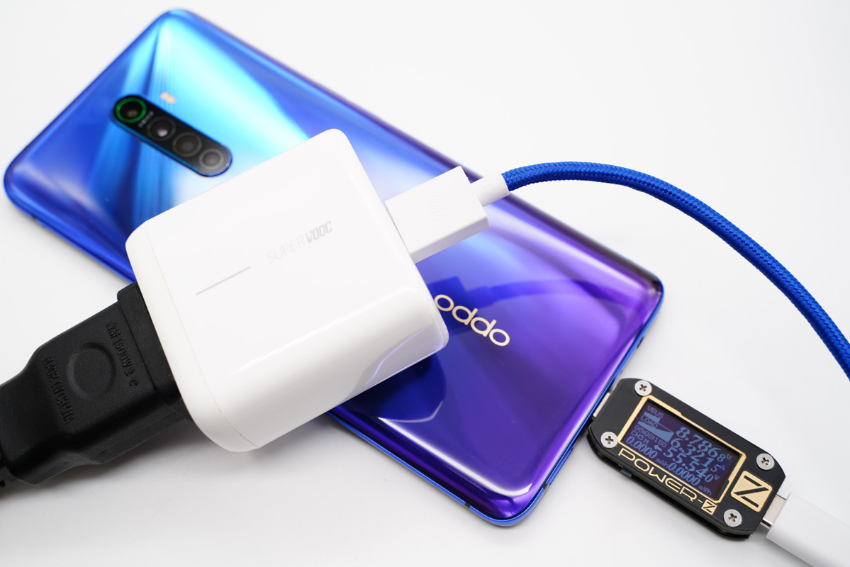 OPPO Reno3Pro 5G 经典蓝定制版手机配机线,支持6A大电流数据线-爱扫货