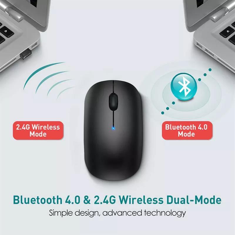 小巧无线鼠标支持蓝牙4.0 & 2.4G无线模式-爱扫货