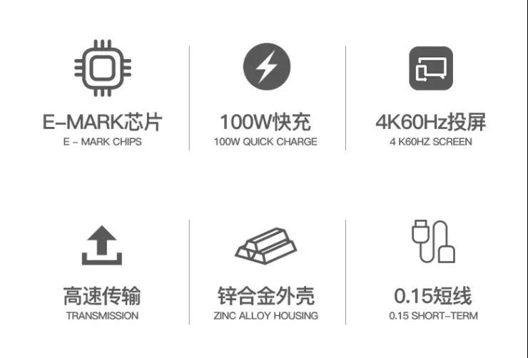 14CM全功能C2C数据线雷电线-爱扫货